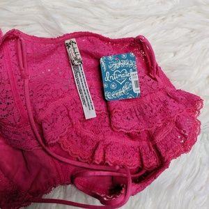 Free People Intimates & Sleepwear - Free People Fleur de Lys Crop Lace Bralette L NWT